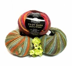 Knit One Crochet Too Ty Dy Socks Skinny Stripes Infinite Yarns Inc